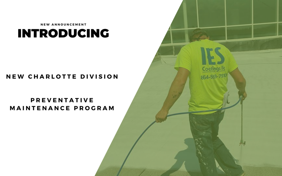 ANNOUNCEMENT: New Division + Preventative Maintenance Program